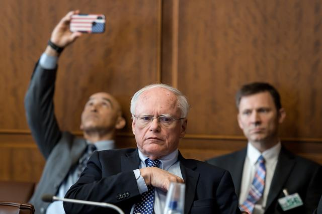 FILE PHOTO: U.S. Special Representative for Syria James Jeffrey gestures during a meeting with delegations of Egypt, France, Germany, Jordan, Saudi Arabia, Britain and the U.S. on Syria's situation at the UN Offices in Geneva, Switzerland September 12, 2019. Fabrice Coffrini/Pool via REUTERS