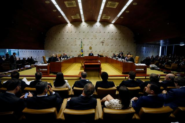 General view of a session of the Supreme Court in Brasilia, Brazil, October 17, 2019. REUTERS/Adriano Machado