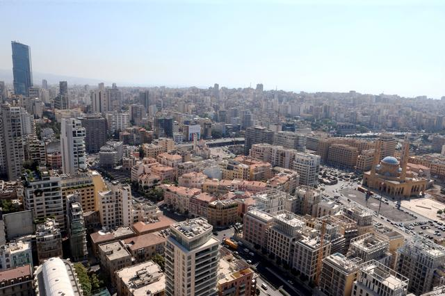 FILE PHOTO: A general view of Beirut central district, Lebanon, August 22, 2019. REUTERS/Mohamed Azakir/File Photo
