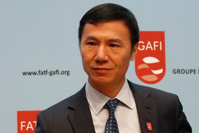 FATF (the Financial Action Task Force) President Xiangmin Liu will attends a news conference after a plenary session at the OECD Headquarters in Paris, France, October 18, 2019.  REUTERS/Charles Platiau