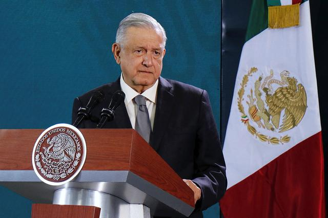 Mexico's President Andres Manuel Lopez Obrador holds his daily news conference in Oaxaca, Mexico October 18, 2019. REUTERS/Jorge Luis Plata
