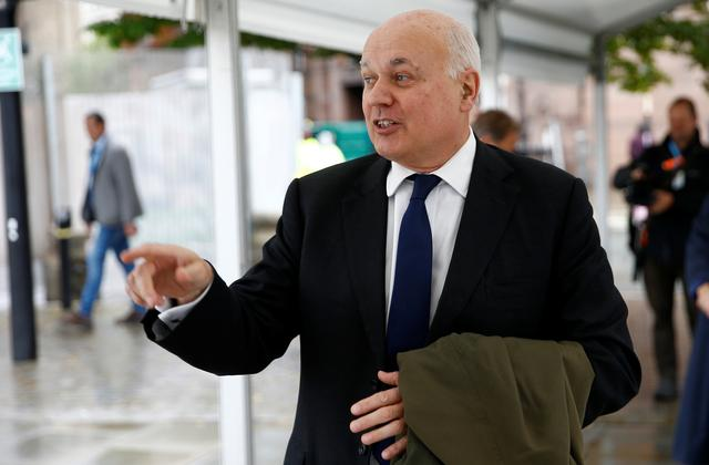 FILE PHOTO: Ian Duncan Smith is seen outside the venue for the Conservative Party annual conference in Manchester, Britain October 1, 2019.  REUTERS/Henry Nicholls