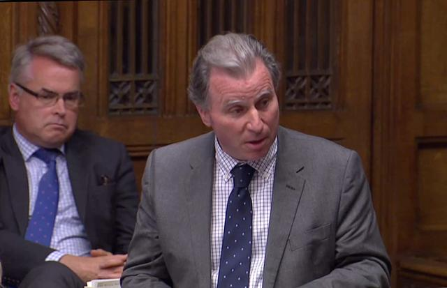 Independent MP Oliver Letwin speaks at the House of Commons as parliament discusses Brexit, sitting on a Saturday for the first time since the 1982 Falklands War, in London, Britain, October 19, 2019, in this screen grab taken from video. Parliament TV via REUTERS