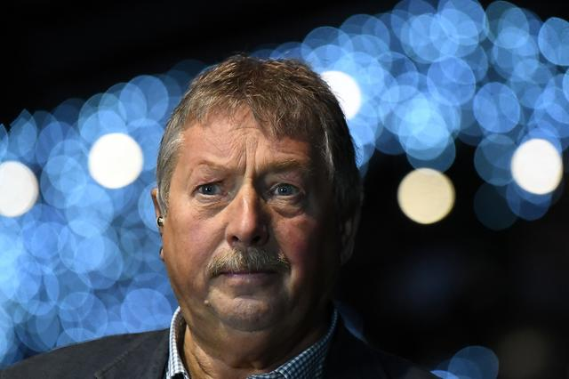 FILE PHOTO: Democratic Unionist Party (DUP) Brexit spokesman Sammy Wilson MP speaks to media after the DUP annual party conference in Belfast, Northern Ireland November 24, 2018. REUTERS/Clodagh Kilcoyne