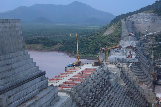 FILE PHOTO: Ethiopia's Grand Renaissance Dam is seen as it undergoes construction work on the river Nile in Guba Woreda, Benishangul Gumuz Region, Ethiopia September 26, 2019. REUTERS/Tiksa Negeri/File Photo