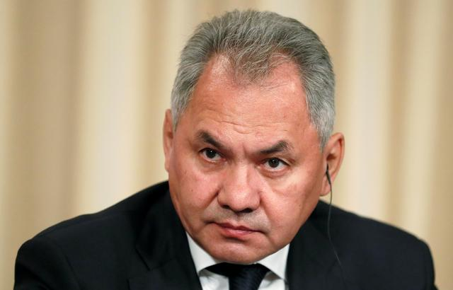FILE PHOTO - Russian Defence Minister Sergei Shoigu looks on after a meeting of the Russian-French Security Cooperation Council in Moscow, Russia, September 9, 2019.  REUTERS/Shamil Zhumatov