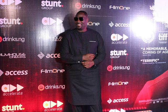 "British-born Nigerian actor Adewale Akinnuoye-Agbaje poses at the premiere of his film ""Farming"" in Lagos, Nigeria in this handout picture obtained by Reuters on October 21, 2019. Accelerate TV/Handout via REUTERS"