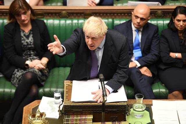 Britain's Prime Minister Boris Johnson is seen at the House of Commons in London, Britain October 22, 2019. ©UK Parliament/Jessica Taylor/Handout via REUTERS