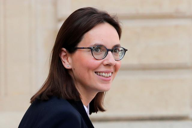 FILE PHOTO: Amelie de Montchalin, newly-appointed French Junior Minister for European affairs, leaves the Elysee Palace following the weekly cabinet meeting in Paris, France, April 1, 2019.  REUTERS/Philippe Wojazer/File Photo