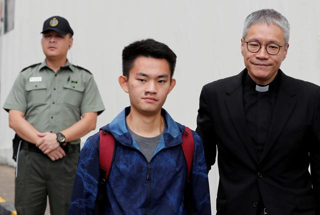 Chan Tong-kai, a Hong Kong citizen who was accused of murdering his girlfriend in Taiwan last year, leaves from Pik Uk Prison, in Hong Kong, China October 23, 2019. REUTERS/Tyrone Siu