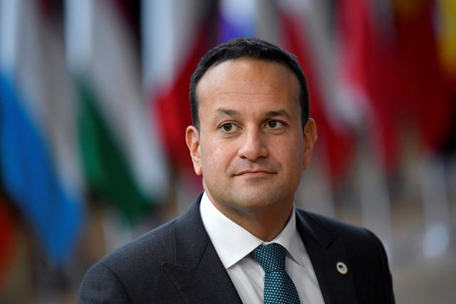FILE PHOTO: Ireland's Prime Minister (Taoiseach) Leo Varadkar arrives at the European Union leaders summit dominated by Brexit, in Brussels, Belgium October 17, 2019. REUTERS/Toby Melville/File Photo