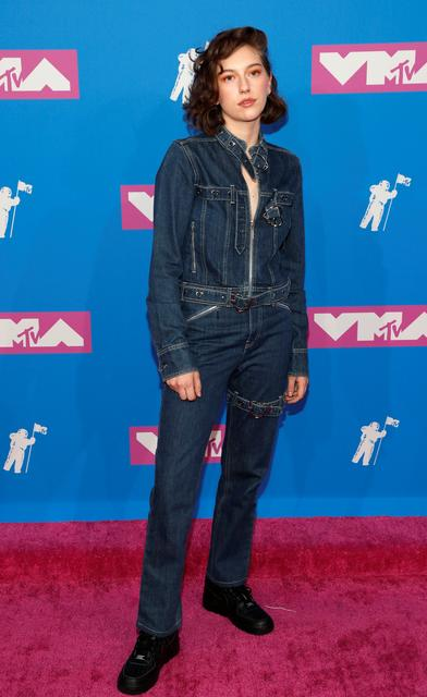 FILE PHOTO: 2018 MTV Video Music Awards - Arrivals - Radio City Music Hall, New York, U.S., August 20, 2018. - King Princess. REUTERS/Andrew Kelly/File Photo