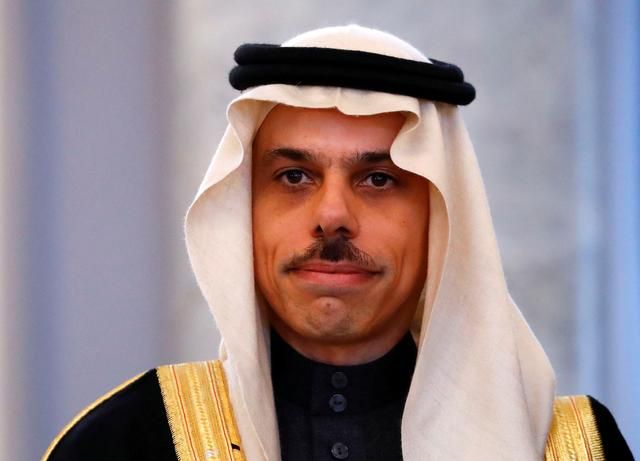 FILE PHOTO: New ambassador of Saudi Arabia to Germany Prince Faisal bin Farhan Al Saud poses for the media after his diplomatic accreditation at Bellevue Palace in Berlin, Germany, March 27, 2019.   REUTERS/Fabrizio Bensch/File Photo