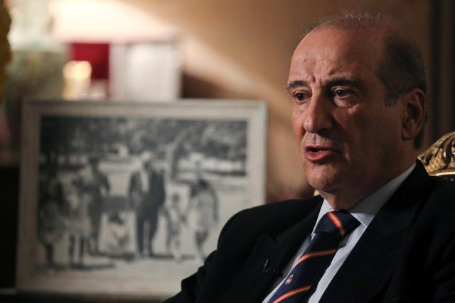 Francisco Franco, grandson of Spanish late dictator Francisco Franco, speaks during an interview with Reuters at his home in Madrid, Spain, October 23, 2019.  REUTERS/Sergio Perez