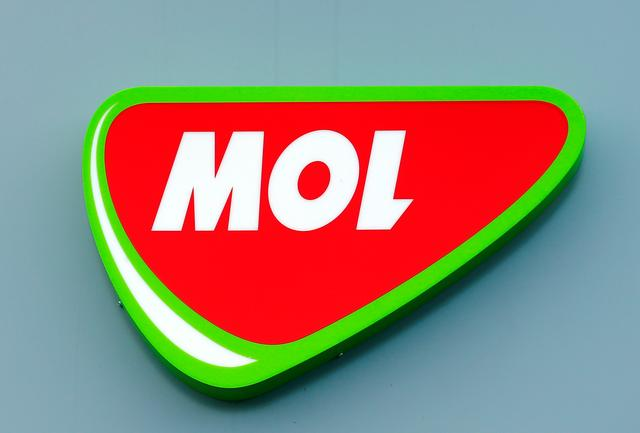 FILE PHOTO: Logo of Hungarian oil and gas group MOL at the company's refinery in Szazhalombatta ,Hungary March 22,2016 REUTERS/Laszlo Balogh/File Photo