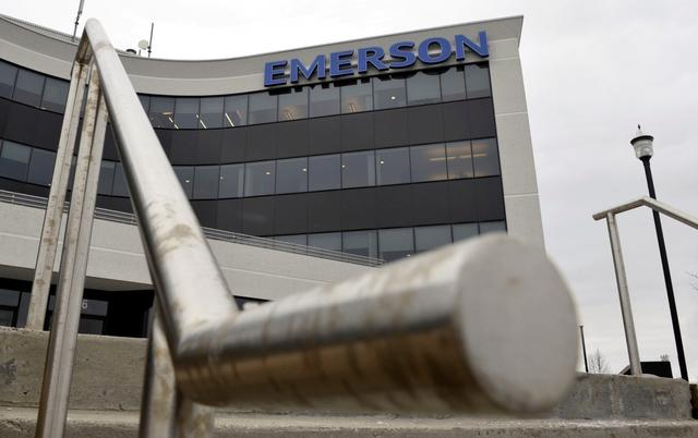 FILE PHOTO: Emerson Electric Company Canadian headquarters is shown in Markham, Ontario,  February 7, 2012.   REUTERS/Mike Cassese/File Photo