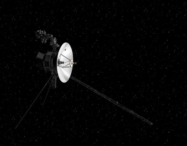 FILE PHOTO: NASA's Voyager spacecraft in space is shown in this artist's rendering obtained from NASA in Washington, DC, U.S., December 10, 2018.  Courtesy NASA/Handout via REUTERS/File Photo