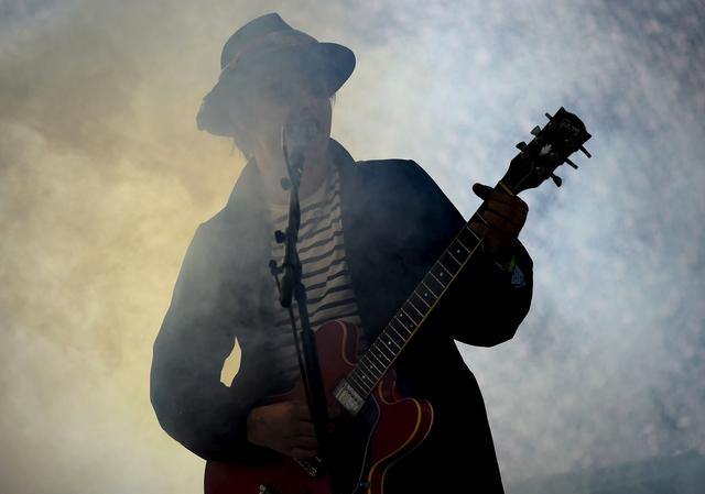 FILE PHOTO: Pete Doherty of The Libertines performs on the Pyramid stage at Worthy Farm in Somerset during the Glastonbury Festival in Britain, June 26, 2015. REUTERS/Dylan Martinez/File Photo