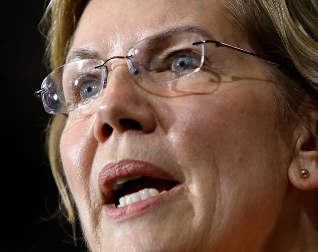 FILE PHOTO: Democratic 2020 U.S. presidential candidate Sen. Elizabeth Warren speaks at a political rally in Raleigh, North Carolina, U.S. November 7, 2019.  REUTERS/Jonathan Drake/File Photo