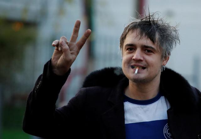 British indie rocker Pete Doherty leaves the Paris court, France, November 12, 2019. REUTERS/Benoit Tessier