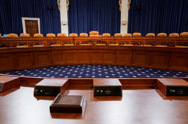 FILE PHOTO: The committee room in the Longworth House Office Building where the first public hearings in the impeachment inquiry against U.S. President Donald Trump are scheduled to take place is shown on Capitol Hill in Washington, U.S., November 6, 2019.      REUTERS/Joshua Roberts/File Photo