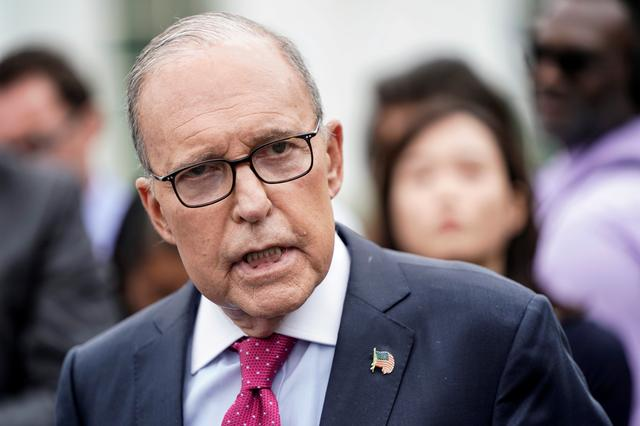 FILE PHOTO: Director of the National Economic Council Larry Kudlow speaks to the media at the White House in Washington, U.S., September 6, 2019.      REUTERS/Joshua Roberts/File Photo