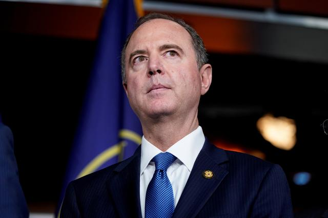 FILE PHOTO: Chairman of the House Intelligence Committee Adam Schiff (D-CA) speaks during a media briefing after a House vote approving rules for an impeachment inquiry into U.S. President Trump on Capitol Hill in Washington, U.S., October 31, 2019. REUTERS/Joshua Roberts