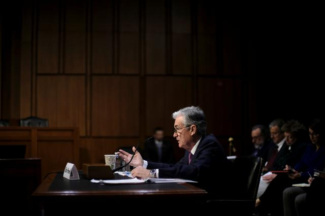 """Federal Reserve Board Chairman Jerome Powell testifies before a Joint Economic Committee hearing on """"The Economic Outlook"""" on Capitol Hill in Washington, U.S., November 13, 2019. REUTERS/James Lawler Duggan"""