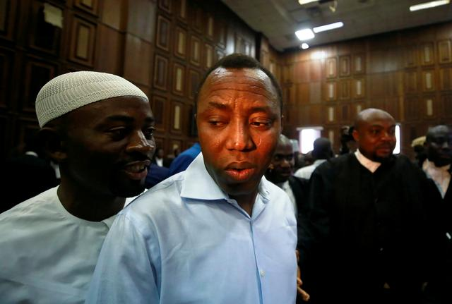 FILE PHOTO: Publisher of Sahara Reporters Omoyele Sowore arrives at the Federal High Court in Abuja, Nigeria September 30, 2019. REUTERS/Afolabi Sotunde/File Photo