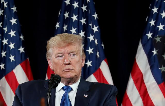 "FILE PHOTO: U.S. President Donald Trump speaks during a ""Black Voices for Trump"" campaign event in Atlanta, Georgia, U.S., November 8, 2019. REUTERS/Jonathan Ernst/File Photo"