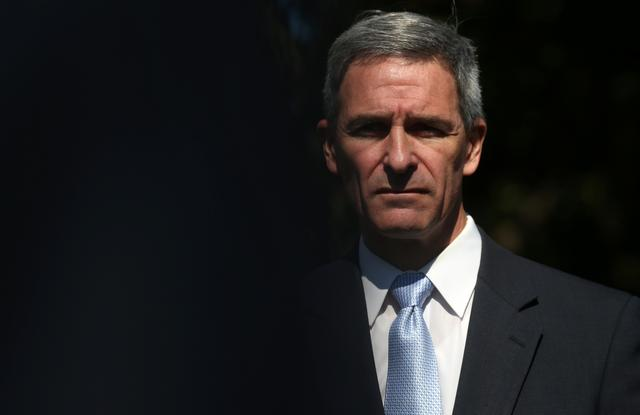 Ken Cuccinelli, acting director of U.S. Citizenship and Immigration Services, speaks to the news media at the White House in Washington, U.S. September 27, 2019. REUTERS/Leah Millis