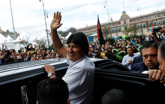 Bolivia's ousted president Evo Morales leaves after a ceremony where he was recognized as a distinguished guest, outside the town hall in Mexico City, Mexico, November 13, 2019. REUTERS/Carlos Jasso?