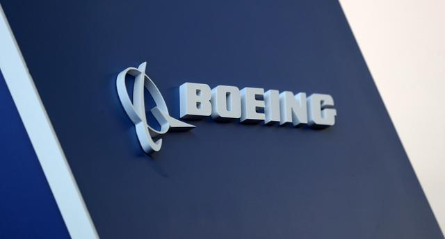 FILE PHOTO: The Boeing logo is pictured at the Latin American Business Aviation Conference & Exhibition fair (LABACE) at Congonhas Airport in Sao Paulo, Brazil August 14, 2018. Picture taken August 14, 2018. REUTERS/Paulo Whitaker