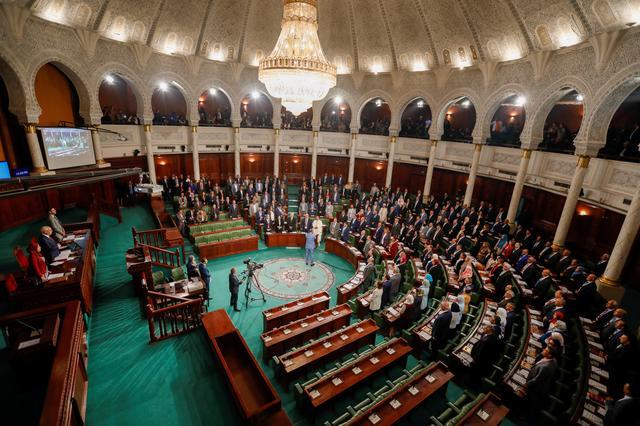 FILE PHOTO: Tunisia's new parliament members take an oath in Tunis, Tunisia  November 13, 2019. REUTERS/Zoubeir Souissi