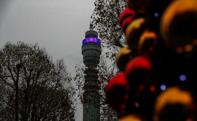 BT Tower owned by British Telecom is pictured in London, Britain, November 15, 2019. REUTERS/Simon Dawson