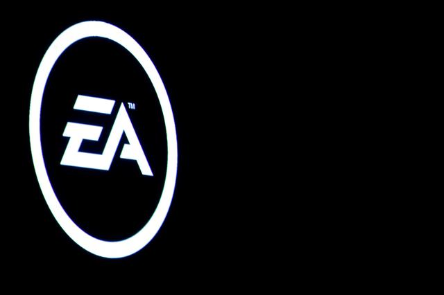 The Electronic Arts Inc., logo is displayed on a screen during a PlayStation 4 Pro launch event in New York City, U.S., September 7, 2016.  REUTERS/Brendan McDermid