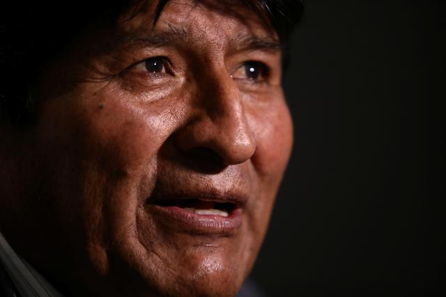 Former Bolivian President Evo Morales speaks during an interview with Reuters, in Mexico City, Mexico November 15, 2019. REUTERS/Edgard Garrido