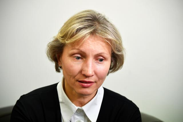 FILE PHOTO: Marina Litvinenko, widow of former Russian intelligence agent Alexander Litvinenko, speaks during an interview with Reuters in London, Britain, March 14, 2018. REUTERS/Toby Melville
