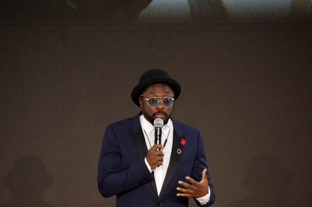 FILE PHOTO: Will.i.am speaks at the Bill and Melinda Gates Foundation Goalkeepers event in Manhattan, New York, U.S., September 20, 2017. REUTERS/Elizabeth Shafiroff