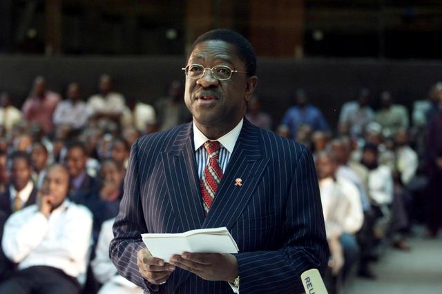 FILE PHOTO: Photo from 2003 showing then Kenyan Attorney General Amos Wako addressing a judicial commission/File Photo