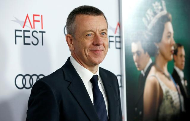 "FILE PHOTO: Creator Peter Morgan poses at a premiere for the season 3 of ""The Crown"" during AFI Fest 2019 in Los Angeles, California, U.S., November 16, 2019. REUTERS/Mario Anzuoni/File Photo"