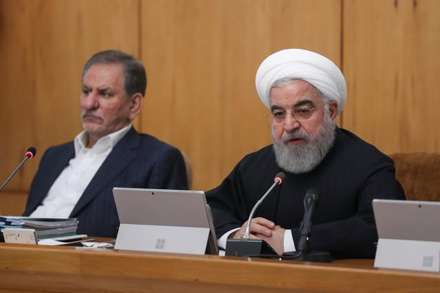 Iranian President Hassan Rouhani speaks during the cabinet meeting in Tehran, Iran, November 20, 2019. Official President website/Handout via REUTERS