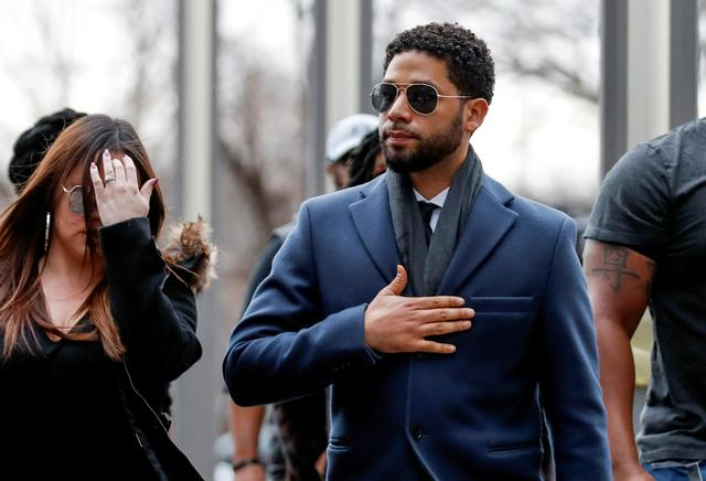 FILE PHOTO: Actor Jussie Smollett arrives at the Leighton Criminal Court Building in Chicago, Illinois, U.S., March 14, 2019. REUTERS/Kamil Krzaczynski