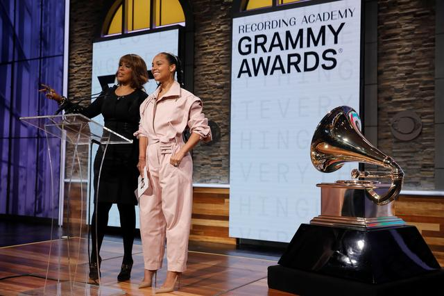 Singer Alicia Keys and CBS television host Gayle King announce nominations for the 2020 Grammy Awards at a news conference in Manhattan, New York, U.S., November 20, 2019. REUTERS/Mike Segar