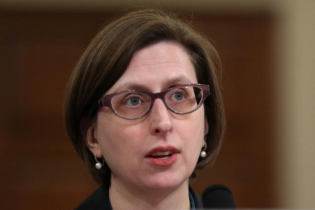 Deputy Assistant Secretary of Defense for Russian, Ukrainian, and Eurasian Affairs Laura Cooper testifies before a House Intelligence Committee impeachment inquiry into U.S. President Donald Trump on Capitol Hill in Washington, U.S., November 20, 2019. REUTERS/Loren Elliott
