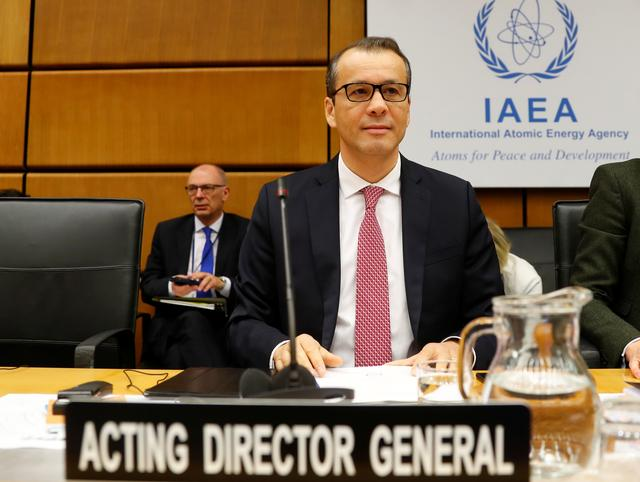 Acting Director General of the International Atomic Energy Agency (IAEA) Cornel Feruta waits for the start of a board of governors meeting at the IAEA headquarters in Vienna, Austria November 21, 2019.   REUTERS/Leonhard Foeger