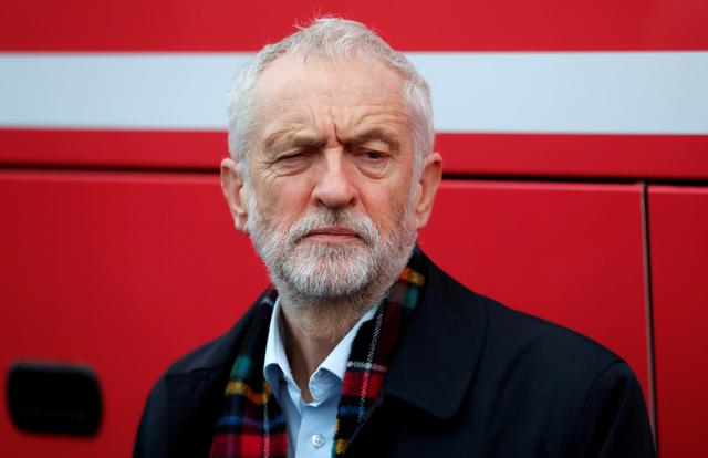 FILE PHOTO: Britain's opposition Labour Party leader Jeremy Corbyn is seen during a visit to Birkenshaw Sports Barn as part of his general election campaign, in Uddingston, Britain November 13, 2019. REUTERS/Russell Cheyne