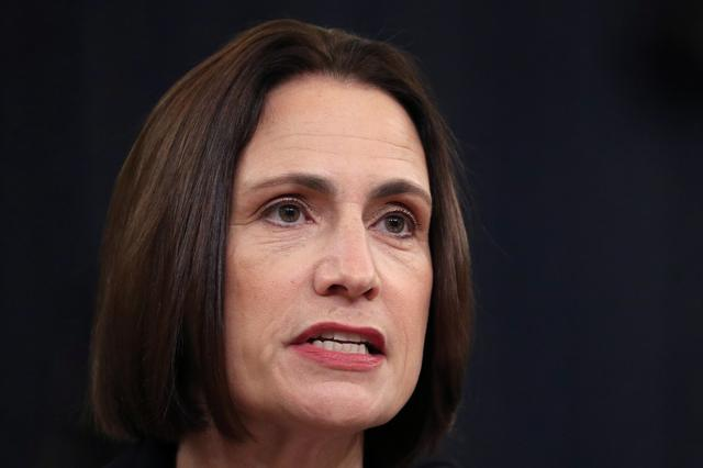 Fiona Hill, former senior director for Europe and Russia on the National Security Council, testifies before a House Intelligence Committee hearing alongside David Holmes, political counselor at the U.S Embassy in Kiev, as part of the impeachment inquiry into U.S. President Donald Trump on Capitol Hill in Washington, U.S., November 21, 2019. REUTERS/Loren Elliott