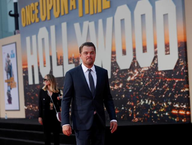 "FILE PHOTO: Leonardo DiCaprio attends the premiere of ""Once Upon a Time In Hollywood"" in Los Angeles, California, U.S., July 22, 2019. REUTERS/Mario Anzuoni/File Photo"