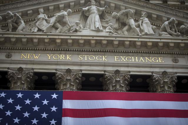 FILE PHOTO: The New York Stock Exchange is pictured in the Manhattan borough of New York, September 21, 2015.  REUTERS/Carlo Allegri/File Photo